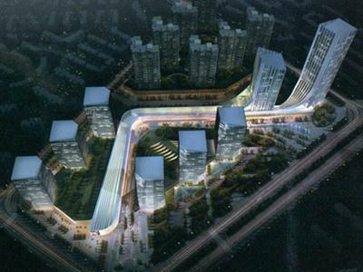河北高层多业态都市综合体无需申请自动送设计方案文本(含两套方案)