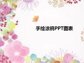 清新手绘涂鸦PPT图表